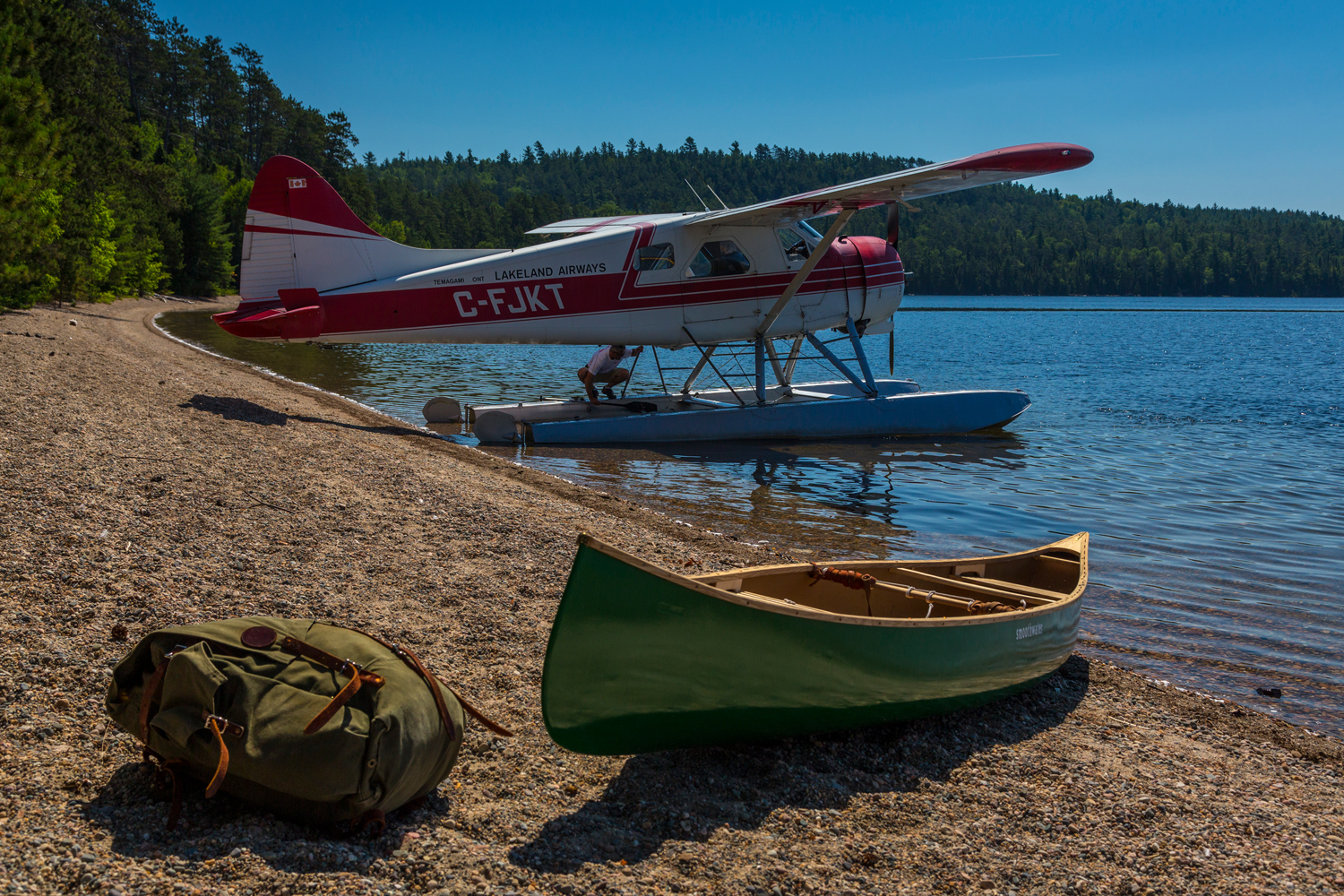 fly-in canoe trip photo