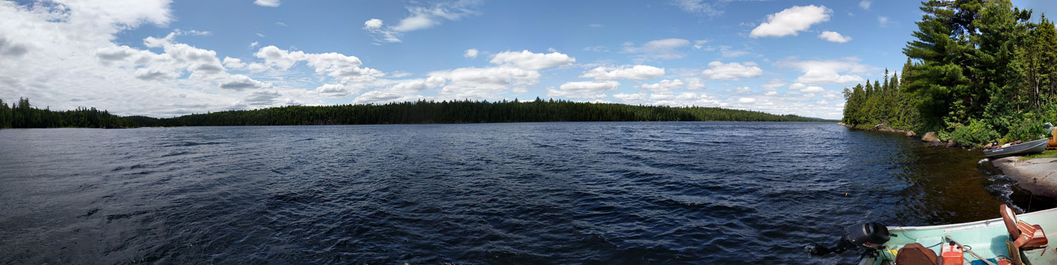 Panoramic view of Chris Willis Lake